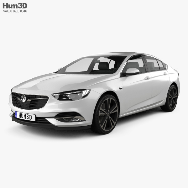 3D model of Vauxhall Insignia Grand Sport 2017