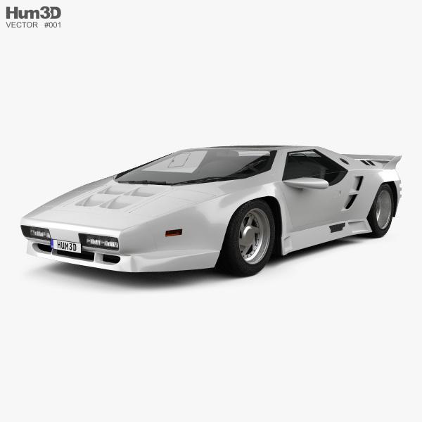 3D model of Vector W8 1990