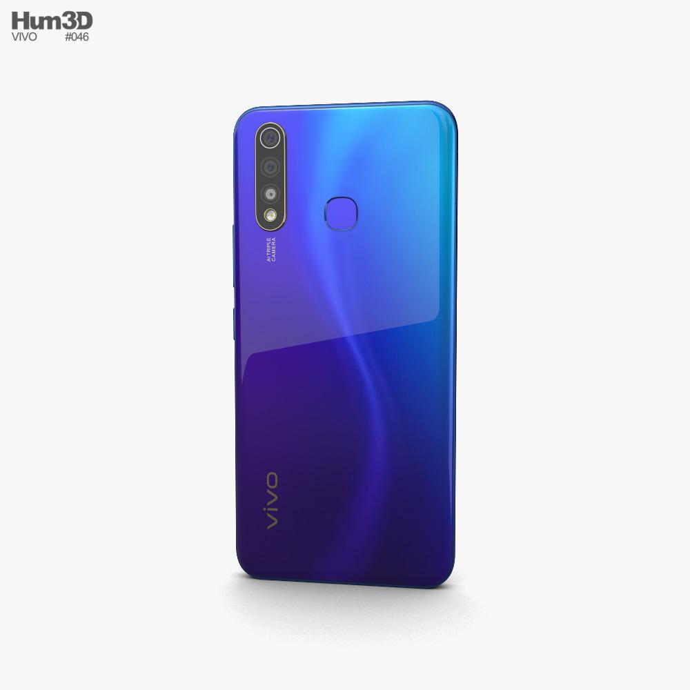 Vivo U20 Blaze Blue 3d model