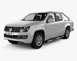3D model of Volkswagen Amarok Crew Cab 2010