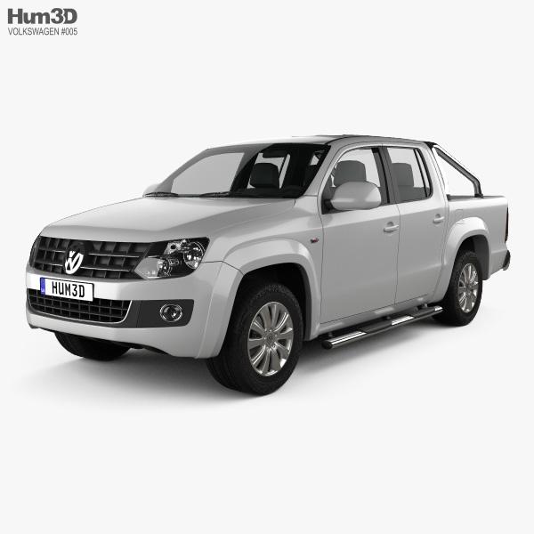 3D model of Volkswagen Amarok Crew Cab 2010