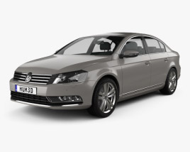 3D model of Volkswagen Passat 2011