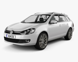 3D model of VolksWagen Golf Variant 2010
