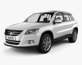 3D model of Volkswagen Tiguan 2010