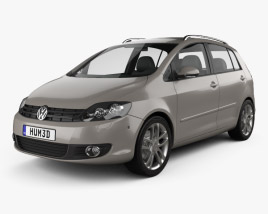 3D model of Volkswagen Golf Plus 2011
