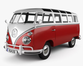 3D model of Volkswagen Transporter T1 1950