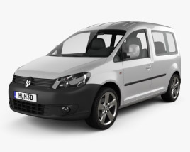 3D model of Volkswagen Caddy 2011