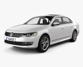 3D model of Volkswagen Passat US 2012