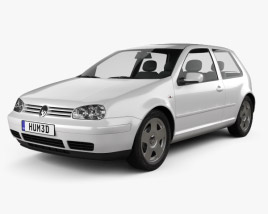 3D model of Volkswagen Golf IV 3-door 1997