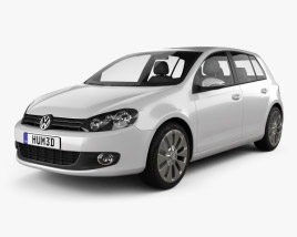 3D model of Volkswagen Golf 5-door 2009