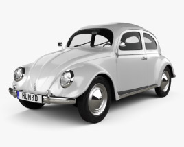3D model of Volkswagen Beetle 1949