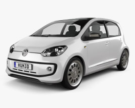 3D model of Volkswagen Up 5-door 2012