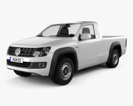 3D model of Volkswagen Amarok Single Cab 2010