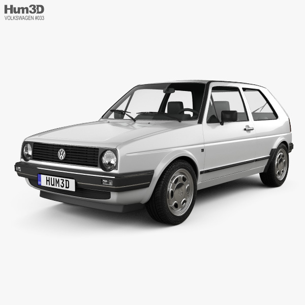 Volkswagen Golf Mk2 3-door 1983 3D model