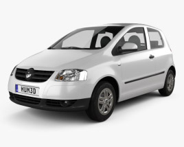 3D model of Volkswagen Fox (Lupo) 3-door 2005