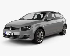 3D model of Volkswagen Golf Mk7 5-door 2013