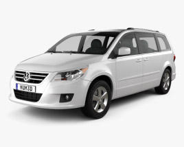 3D model of Volkswagen Routan 2012