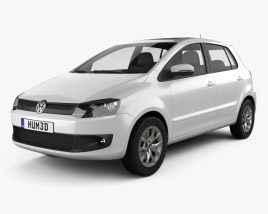 3D model of Volkswagen Fox 5-door 2012