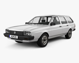 3D model of Volkswagen Passat (B2) variant 1981