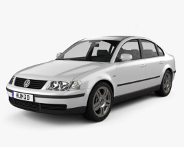 Volkswagen Passat B5 sedan 1997 3D model