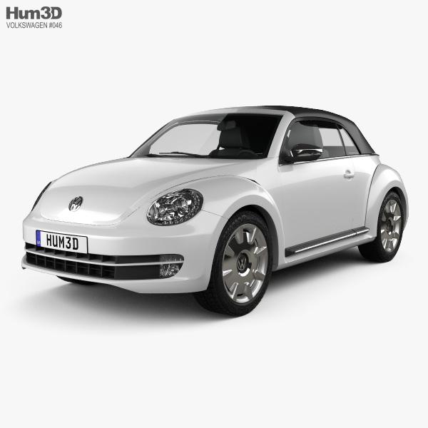 Volkswagen Beetle convertible 2013 3D model