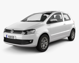 3D model of Volkswagen Fox 3-door 2012