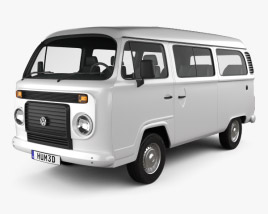 3D model of Volkswagen Kombi (T2) 2012