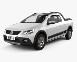 3D model of Volkswagen Saveiro Cross 2012