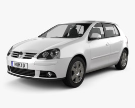 3D model of Volkswagen Golf Mk5 5-door 2004