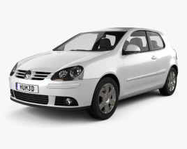 3D model of Volkswagen Golf Mk5 3-door 2004