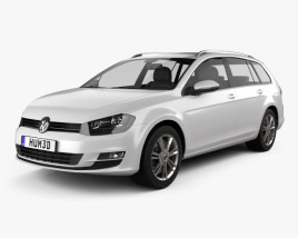 3D model of Volkswagen Golf Mk7 variant 2014