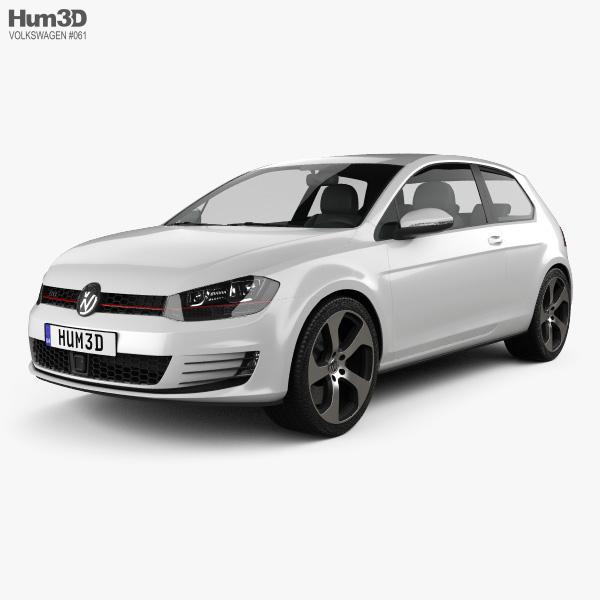 Volkswagen Golf 3-door GTI 2014 3D model