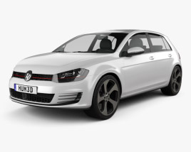 3D model of Volkswagen Golf 5-door GTI 2014