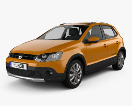 3D model of Volkswagen Cross Polo 2011