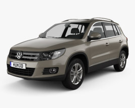 3D model of Volkswagen Tiguan Sport & Style 2012