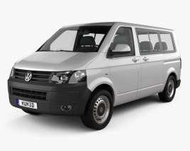 3D model of Volkswagen Transporter (T5) Kombi 2010