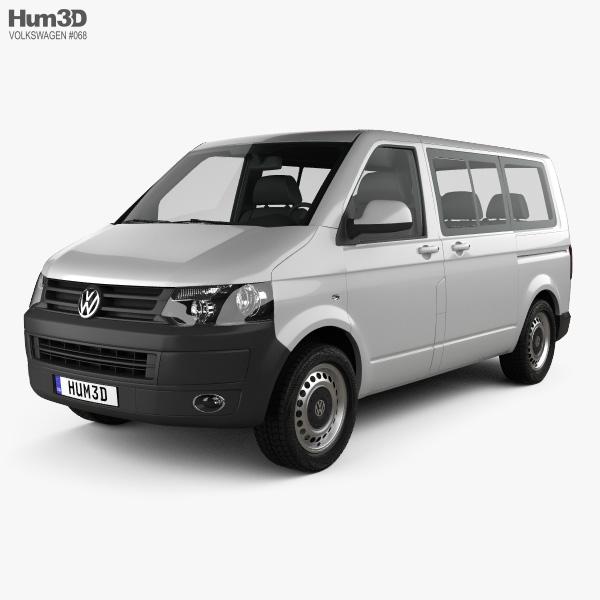 Volkswagen Transporter (T5) Kombi 2010 3D model