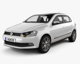 3D model of Volkswagen Gol 2012