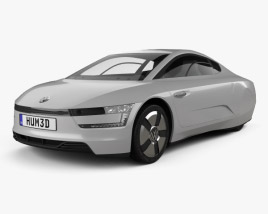 3D model of Volkswagen XL1 2013