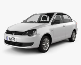 3D model of Volkswagen Polo Vivo sedan 2010