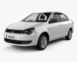 3D model of Volkswagen Polo Vivo Sedán 2010