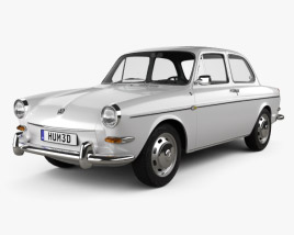 3D model of Volkswagen Type 3 (1600) sedan 1965
