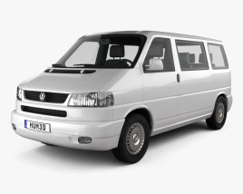 3D model of Volkswagen Transporter (T4) Caravelle 1996