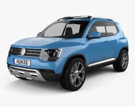 3D model of Volkswagen Taigun 2012