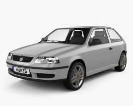 3D model of Volkswagen Gol 2003