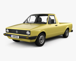 Volkswagen Caddy (Type 14) 1982 3D model