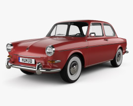3D model of Volkswagen 1500 (Type 3) notchback 1961