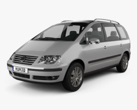 3D model of Volkswagen Sharan 2004