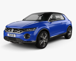 3D model of Volkswagen T-Roc 2014