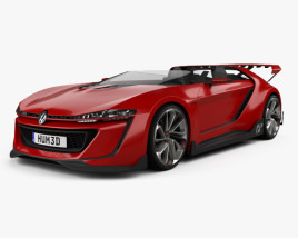 3D model of Volkswagen GTI Roadster 2014